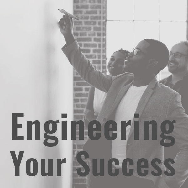 Engineering your success icon in gray.